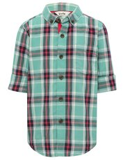Green checked shirt