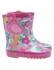 Flamingo wellie boots