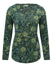 Long sleeve paisley print t-shirt