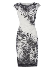 Roman Originals floral print lace dress