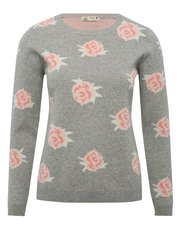 Floral rose jumper