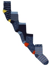 Space yarn stripe socks five pack
