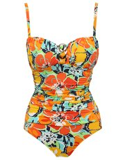 Hawaiian print tummy control multiway swimsuit