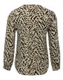 Petite animal print zip shirt