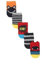 Monster print trainer socks five pack