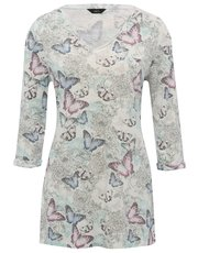 Butterfly print jersey tunic top