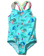 Mermaid print swimsuit