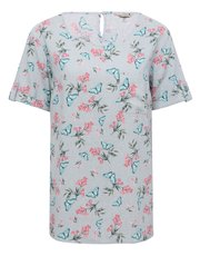 Butterfly floral linen top