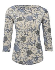 Scoop neck floral t-shirt