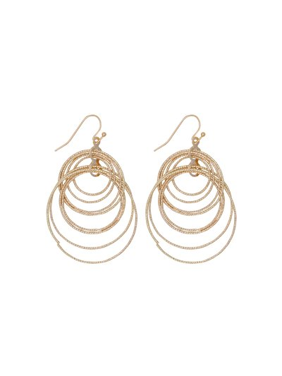 Textured circles earrings