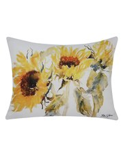 Sunflower print cushion