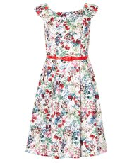 Izabel rose print prom dress