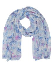 Butterfly print dobby scarf