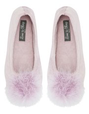 Fluffy ballet slippers