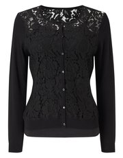 Jacques Vert Emmy lace front cardigan
