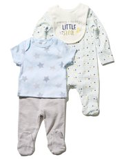Star print four piece starter set