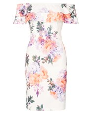 Izabel floral bardot midi dress