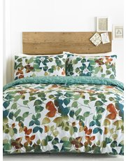 Leaves print duvet set