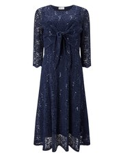 Eastex two in one sequin lace dress