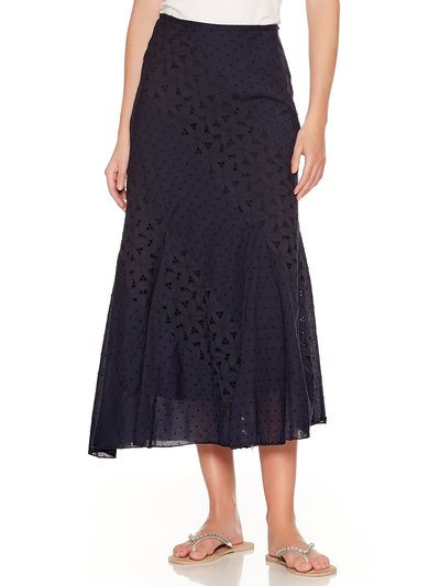 Broderie anglaise panel maxi skirt