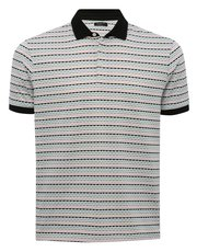 Patterned stripe polo shirt