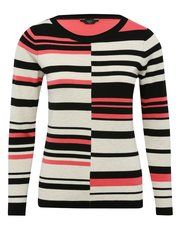 Petite cut about stripe jumper