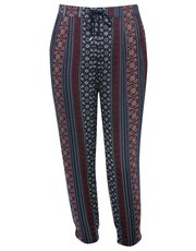 Plus printed jogger trousers