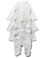 Sheep sleepsuit three pack