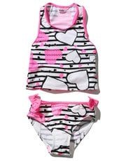 Heart stripe tankini