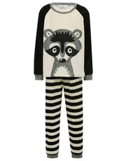 Racoon stripe fleece pyjamas