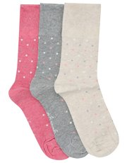 Gentle Grip dot pattern socks three pack