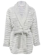 Short animal fleece robe