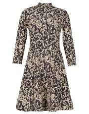 Izabel long sleeved printed dress