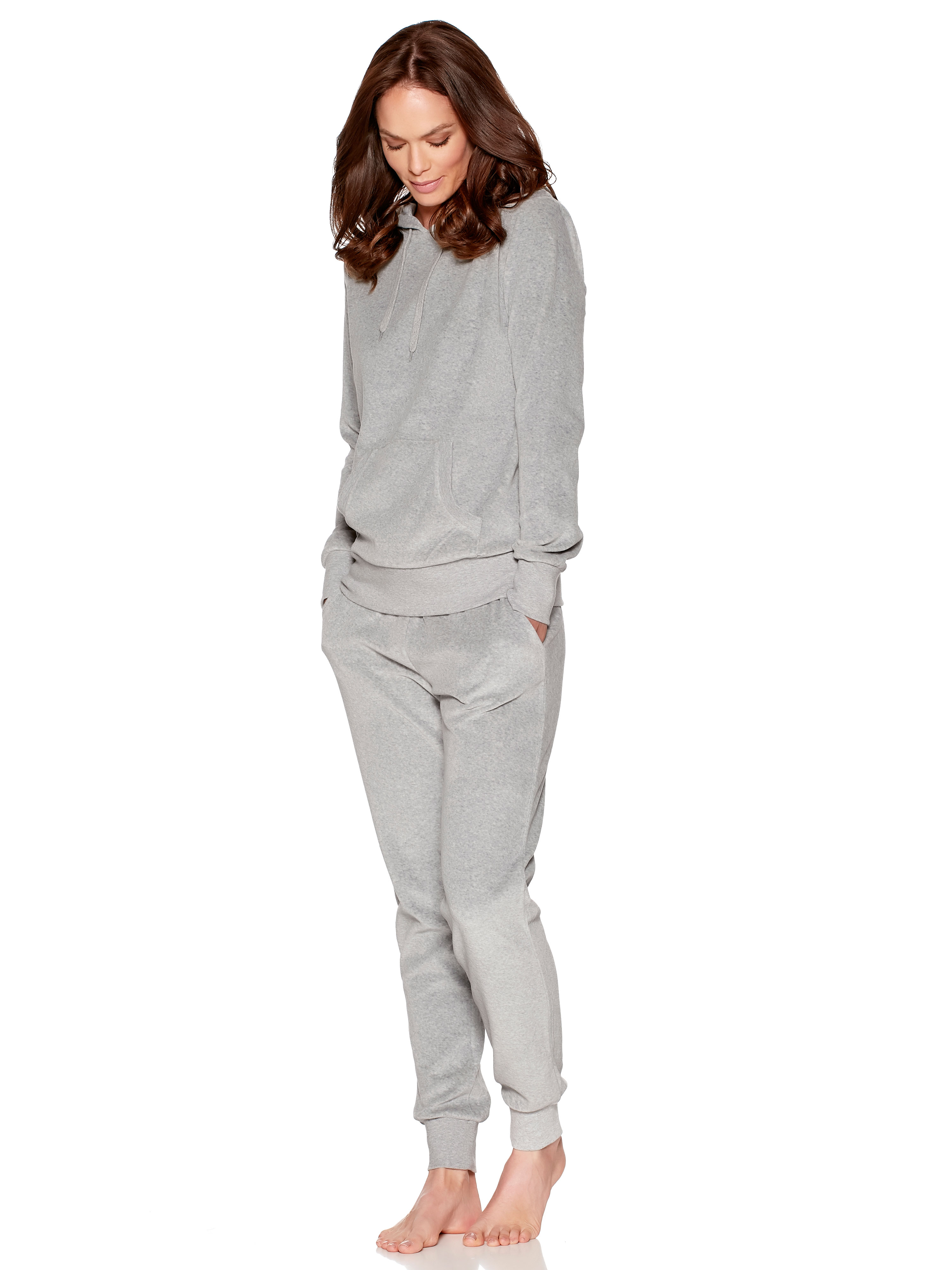 Velour hoody and jogger loungewear set