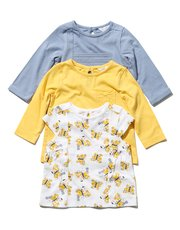 Butterly print t-shirt three pack