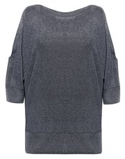 Plus glitter split sleeve jumper