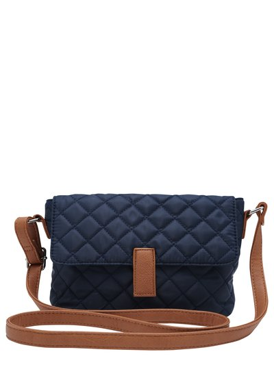 Navy quilted cross body bag