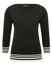 Stripe tipped hem jumper
