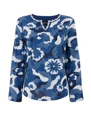 TIGI lotus print top