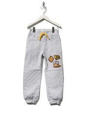 JCB quilted knee badge joggers
