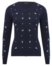Embroidered bumble bee cardigan
