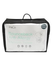 Bounceback anti-allergy mattress topper