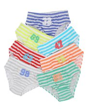 Striped briefs seven pack