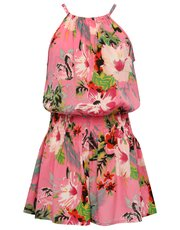 Teens' floral print playsuit