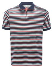Striped jersey polo shirt