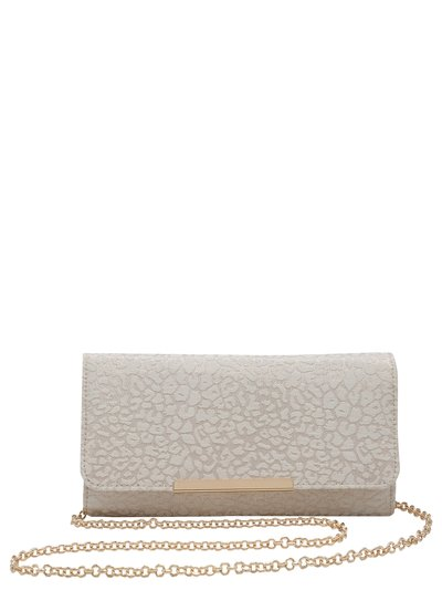 Leopard jacquard clutch bag