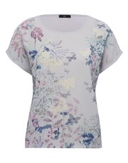 Petite floral butterfly print top