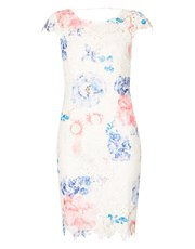Izabel floral crochet overlay dress