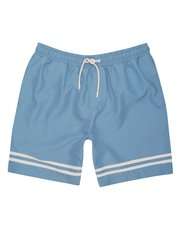 Double stripe swim shorts