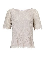 Jacques Vert Ariana lace front cross top